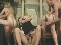 Slutty grannies Beth Morgan, Catherine Curtis and Rachel go for a wild gangbang party with younger men in this nasty pornstory. Check out these horny oldies as they get fucked simultaneously and feast on hard cocks satisfy their sexual cravings in th. Bet